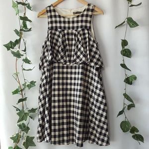 Sunday in Brooklyn ruffled gingham shift size M